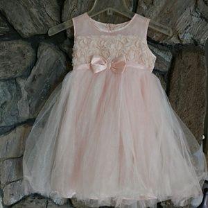 Popatu 8 Pink Sequin Tulle Empire Princess Dress